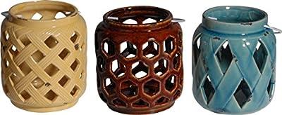 Established 98 21461 Ceramic Hannah Lanterns,