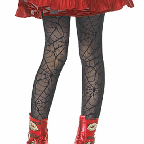 Lets Party By Leg Avenue Spider Web Child Tights / Black - Size Small/Medium