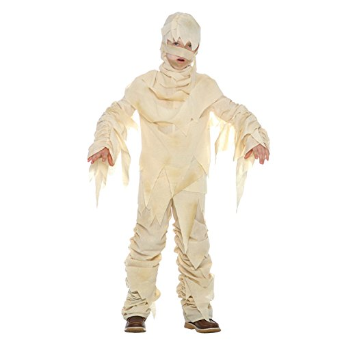 Boys Mummy Costume for Kids Ancient Egypt Childs Egyptian Bandaged Fancy Dress - Large (Age 9-11)]()