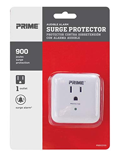 Amazon.com: Prime pb802105 1 Outlet 900 julios Surge Tap ...