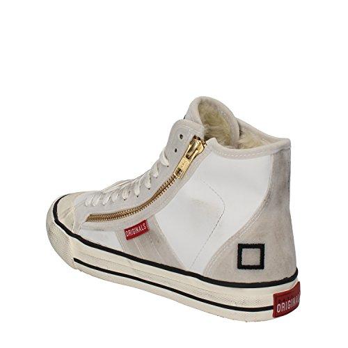 E Donna Bianco Date Sneakers A D Camoscio Pelle T qH6wzyxXE