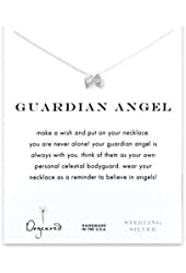"Dogeared Guardian Angel Wings Sterling Silver Reminder 16"" Boxed Necklace"