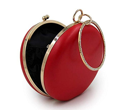 Purses NBWE Clutches Clutch Women Floral Evening Red Handbags Bag Pearls PfqEafAw