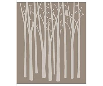 Birch Tree Silhouettes Paint By Number Wall Mural