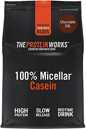 100% Caseína Micelar   Sabor Chocolate, 2 kg   Proteína de liberación lenta para antes de dormir