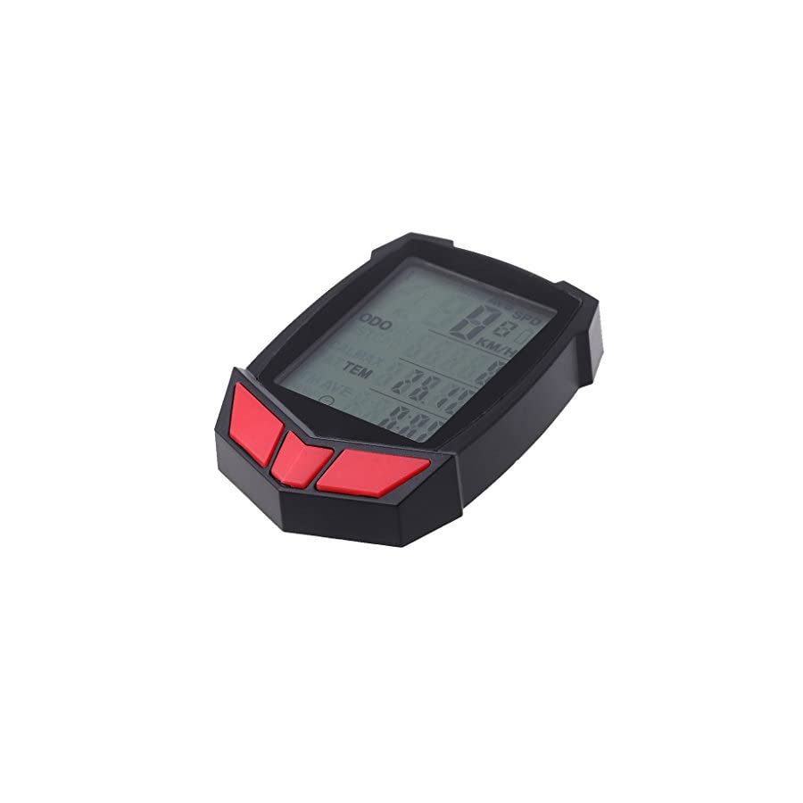 BetterM Wired Bicycle Cycling Computer Speedometer, LCD Backlight Odometer