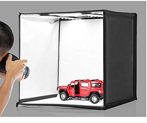 WXQP Caja de luz fotográfica, 40 cm, Plegable, 30W 5500K, luz Blanca, iluminación de Foto, Kit de Caja de Carpa de Tiro de Estudio de iluminación fotográfica con 6 Colores de Fondo: