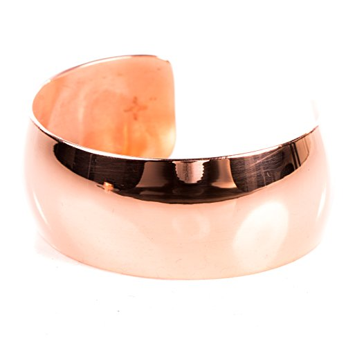 TSKIES Copper Bracelet High Polished Cuff Authentic Handmade Native American Jewelry Made in USA