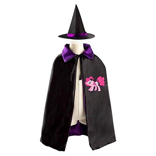 Purple Costume Man Pie Halloween (Pinkie Pie Halloween Costumes Decoration Cosplay Witch Cloak with Hat)