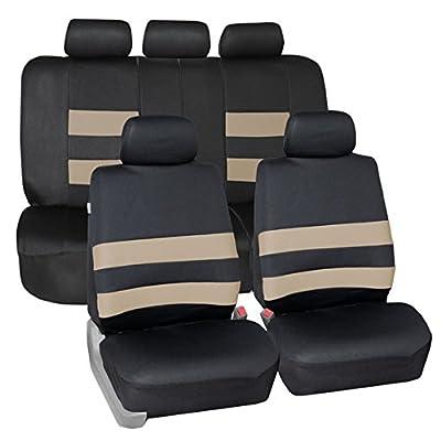 FH GROUP FH-FB083115 Neoprene Waterproof Car Seat Covers Airbag Ready & Rear Split- Fit Most Car, Truck, Suv, or Van