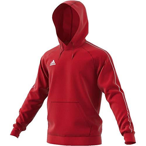 Hoody Rouge Adidas Felpa Core18 blanc Vif Uomo RqR8w5I