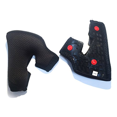 Fox 2015 Rampage Replacement Pro Carbon Cheek Pads for Helmet - 04165 (L)