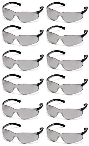 Pyramex Ztek Safety Glasses Silver Mirror Lens S2570S (12 Pair Pack)