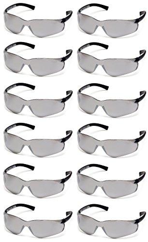 Mirror Lens Safety Glasses - Pyramex Ztek Safety Glasses Silver Mirror