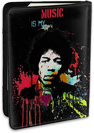 ジミ・ヘンドリックス Jimi Hendrix パスポートケース パスポートカバー メンズ レディース パスポートバッグ ポーチ 収納カバー PUレザー 多機能収納ポケット 収納抜群 携帯便利 海外旅行 出張 クレジットカード 大容量