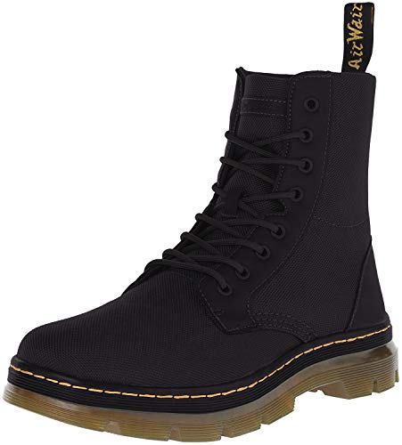 Best Dr. Martens Men's Combs Nylon Combat Boot, Black, 10 UK/11 M US