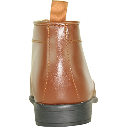 Allure Mens Boy Boot Al03kid Fashion Smoking Con Materiale Grinza Free Brown