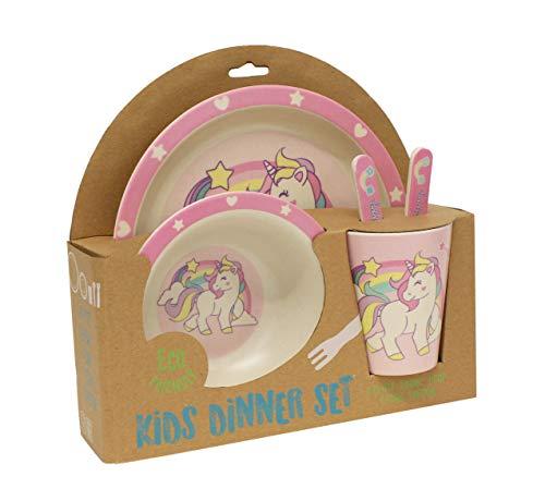 - Gourmet Home Products 198018 5-Piece Kids Dinner Set, Unicorn