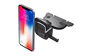 iOttie Easy One Touch 4 CD Slot Car Mount Phone Holder for iPhone X 8 Plus 7 6s SE Samsung Galaxy S9 S8 Edge S7 S6 Note 8 & other Smartphone