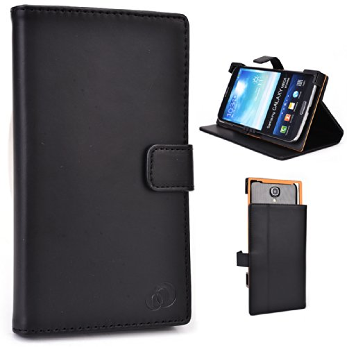 Kroo Universal 6-Inch Smartphone Cover  Phablet Case with Stand Pearl Black