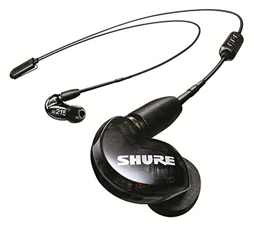 Shure SE215 Wireless Earphones with Bluetooth 5.0, Sound Isolating, Black