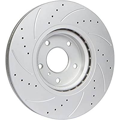 [Front & Rear Kit] GT//Rotors High Performance Brake Disc Rotors & Ceramic Pads for Subaru Impreza WRX 2011-2014 Forester 10-13 Legacy 13-14 Outback 13-14: Automotive