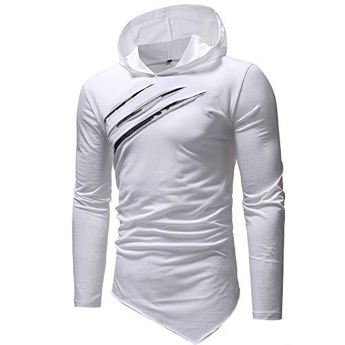 Maglietta Maglione Lunga Calcio Top Tinta Cappuccio caldo Pullover Uomo Felpe Con Cotone T Yoga Unita Camicette uomp Manica White Lunghe Bazhahei shirt Sportiva O7xgqwSTH