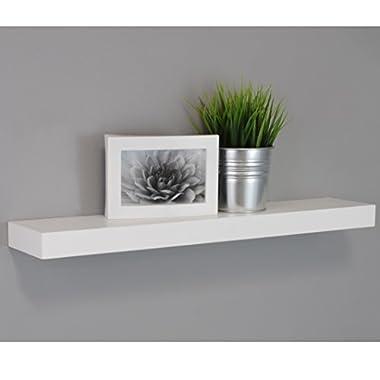 Kiera Grace  Maine Wall Shelf/Floating Ledge, 24 Inch - White