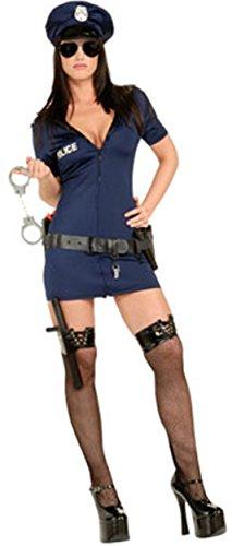 Lady Cop Halloween (Officer Frisky - Lady Cop - Secret Wishes - Adult Fancy Dress Costume -)