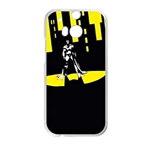 Batman Shadow In The City HTC One M8 Cell Phone Case White&Phone Accessory STC_069374