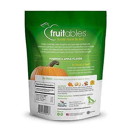 Fruitables Delicioso Perro Saludable Trata El Sabor De La Calabaza Y La Manzana 1 Unidad 206 g