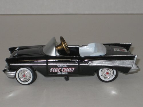 Gearbox Collectible Die Cast Pedal Car Model 68259: 1957 Chevrolet Car with Texaco Fire Chief Logo, Limited Edition #2 in a Series, Only 9600 Made by Gearbox Collectible