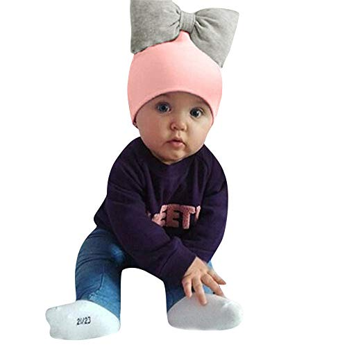 Baby Hat,YJYdada Toddler Kids Baby Girls Hat Cap Cotton Bow Headwraps Hair Accessories (Pink)