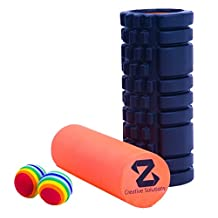 LIMITED TIME OFFER! Z Creative Solutions 3 in 1 foam roller.Yoga Foam Roller for trigger point massage of tight muscles + Smooth roller for rehab and relief of sore muscles. FREE CARRY CASE, 2 EVA BALLS AND INSTRUCTIONS MANUAL INCLUDED ($30 VALUE) CANADIAN COMPANY