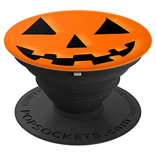 Halloween Jack O Lantern Orange Pumpkin - PopSockets Grip and Stand for Phones and Tablets]()