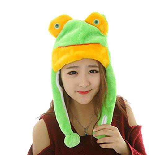 Dalino Creative Cute Cartoon Performance Headwear Plush Animal Headgear (Green Frog) by Dalino
