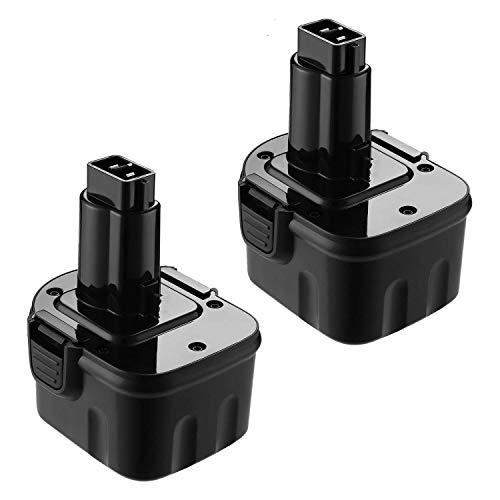 FirstPower Replace for Dewalt 12V Battery XRP DW9071 DW9072 DC9071 DE9037 DE9071 DE9072 DE9074 DE9075 Compatible with All DEWALT 12V Battery Cordless Power Tool 2-Packs