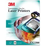 "3M Laser Transparency Film, 50/Box, 8-1/2""X11"""