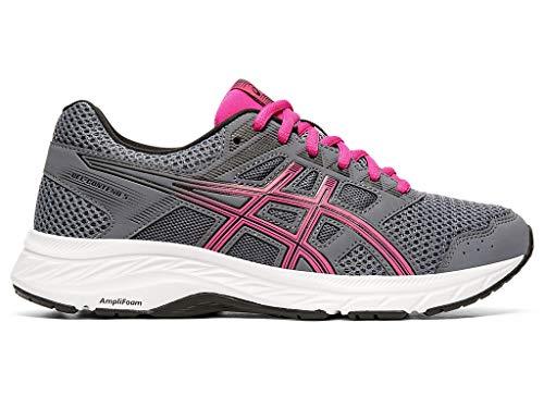 ASICS Women's Gel-Contend 5 (D) Running Shoes, 9W, Metropolis/Fuchsia Purple