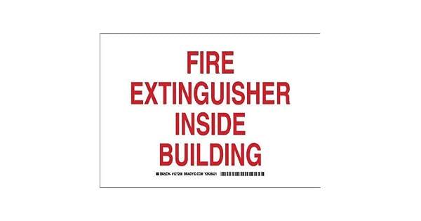Amazon.com: Brady 127209 Seguridad contra incendios Sign ...