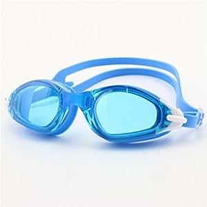 Axiba Gafas de natación al aire libre adultos anti niebla natación gafas de silicona plano