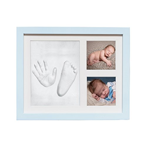 Baby Handprint & Footprint Clay Kit By Yomayo - Newborn Picture Frame - Unique Baby Shower Gift For Infant - Decorative Keepsake - For Boys And Girls (Clay Formula)