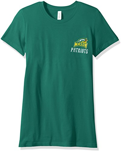 - NCAA George Mason Patriots Women's Double Pattern Scroll Favorite Short sleeve T-Shirt, Large,Kelly
