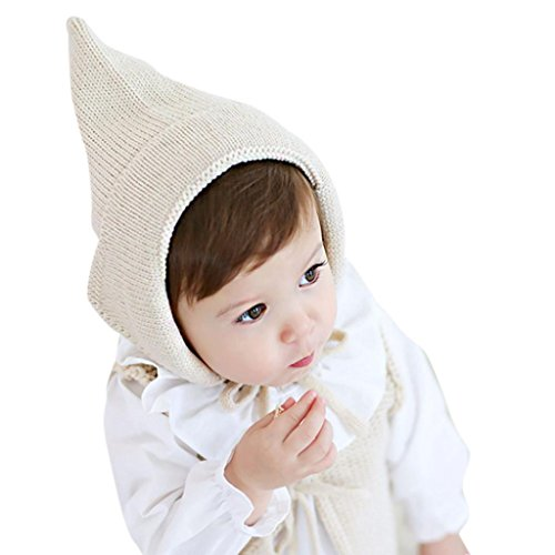 [Baby Hat, Yasalu Autumn Winter Baby Knitted Crochet Solid Beanie Cap (beige)] (Difference Between Fashion Jewellery And Costume Jewellery)