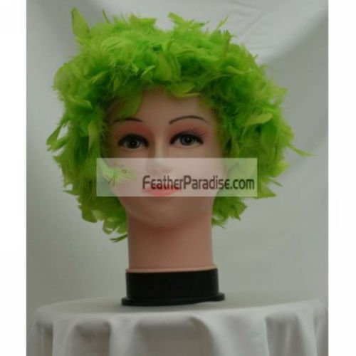 Lime Green Chandelle Feather Costume Wig Halloween Costume Coque Feather Wigs (Atlanta, (Halloween Costume Parties Atlanta)
