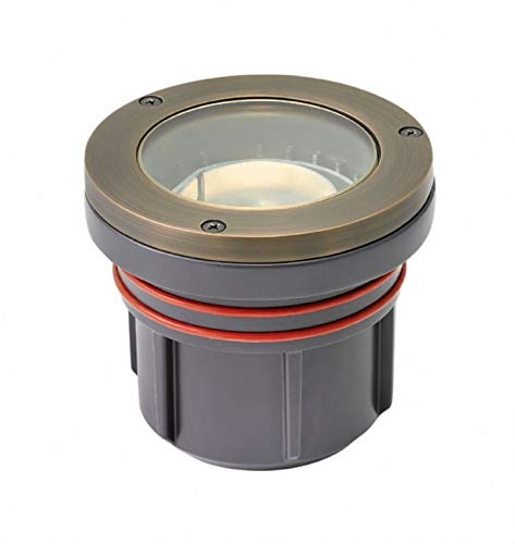Hinkley 15702MZ Flat Top - 4'' 9W 1 LED Outdoor Well Light, Matte Bronze Finish with Clear Lens Glass