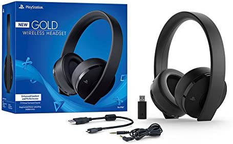 Amazon.com  Sony PlayStation Gold Wireless Headset 7.1 Surround Sound PS4  New Version 2018  Electronics 7148754658