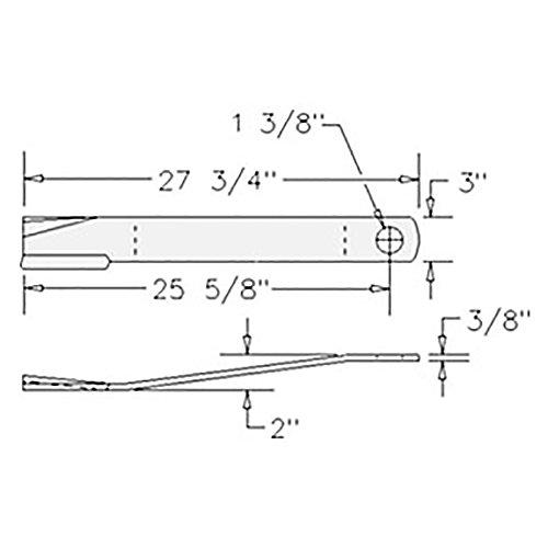 "00772302 New Rhino Rotary Mower Cutter 27.75"" CCW Blade Servis SE6"