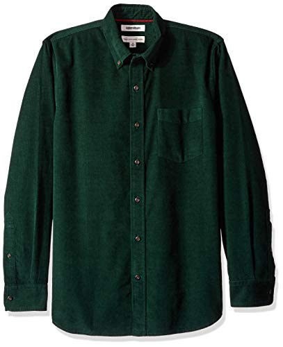 Goodthreads Men's Standard-Fit Long-Sleeve Corduroy Shirt, -green, X-Small ()