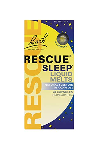 - Rescue Sleep Liquid Melts, Natural Sleep Aid, 28 Capsules